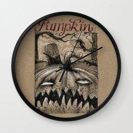Pumpkin (Drawlloween 1/31) Wall Clock