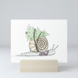Christmas Snail  Mini Art Print