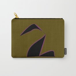 Black Purple Swan. Carry-All Pouch