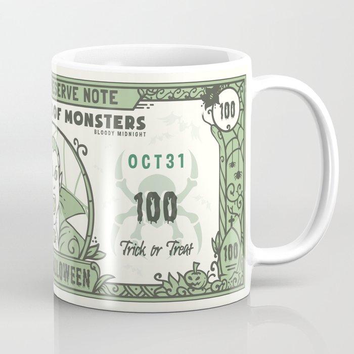 Halloween 100 Dollar Bill Coffee Mug by pixaroma