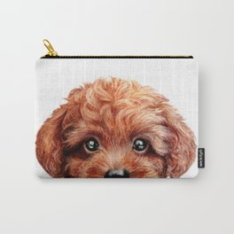 Toy poodle-reddish brown Dog illustration original painting print Carry-All Pouch