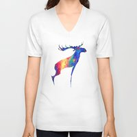 moose V-neck T-shirts featuring Moose by Verismaya