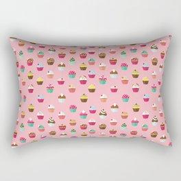 Tasty Cupcake Pattern Rectangular Pillow
