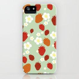 Strawberry Blossom iPhone Case