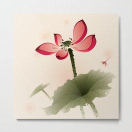 Oriental Lotus 001 Metal Print