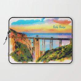 Bixby Bridge in California at sunset Laptop Sleeve