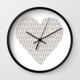 Penis at heart Wall Clock