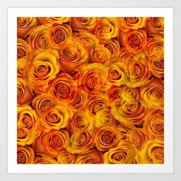 Grenadier Tangerine Roses Art Print