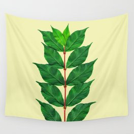 Tree Branch Minimal Leaves Wall Tapestry