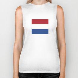flag of netherlands  Biker Tank