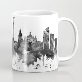 Kyiv Ukraine Skyline BW Coffee Mug