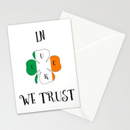 st. patrick lucky tshirt Stationery Cards
