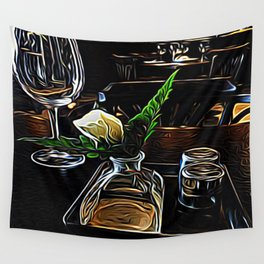 The Leaning Flower of Pisa Wall Tapestry