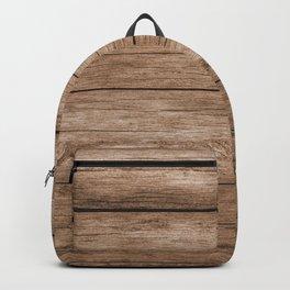 Rustic Barn Wood Brown Backpack