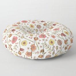 Key West Flowers Floor Pillow
