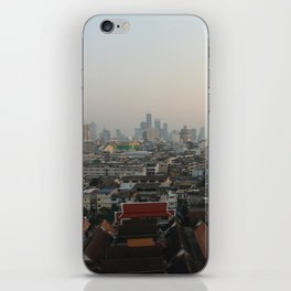 Bangkok's Skyline View from Wat Saket during Golden Hour iPhone Skin