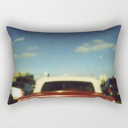 Red Car Rectangular Pillow