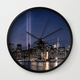 Tribute in Light. New York City, 4 Wall Clock