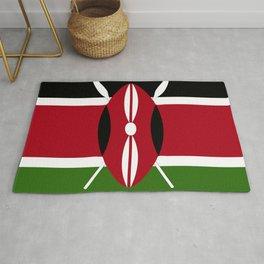 Kenya flag emblem Rug