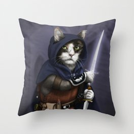 Rogue Cat Throw Pillow