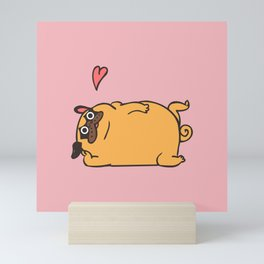 Rub My Belly Pug Mini Art Print