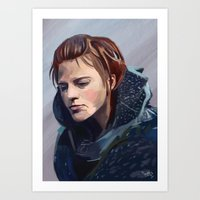 ygritte Art Prints featuring Ygritte by Josh Filhol Illustration