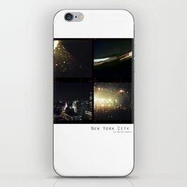 New York Nights II : Neon Gold iPhone Skin