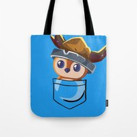 warcraft Tote Bags featuring Viking Pepe! by SlothgirlArt