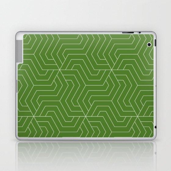 Sap green - green - Modern Vector Seamless Pattern Laptop & iPad Skin by  makeitcolorful