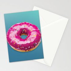 Lowpoly Donut Stationery Cards