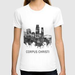 Corpus Christi Texas Skyline BW T-shirt
