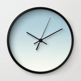 BLUE STRIKES - Minimal Plain Soft Mood Color Blend Prints Wall Clock