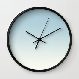 BLUE STRIKES - Minimal Plain Soft Mood Color Blend Prints Wall Clock