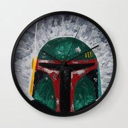 Boba Fett palette knife painting Wall Clock