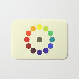 Vintage remake of Bonnie E. Snow's and Hugo B. Froehlich's Larger Chromatic Circle 1918 Bath Mat