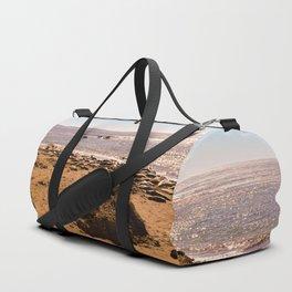 Elephant Seals on the California Coast Duffle Bag
