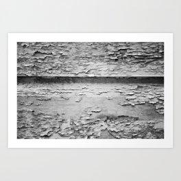 Flaky (black and white) Art Print