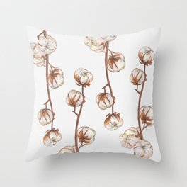 Cotton flower paper texture Throw Pillow