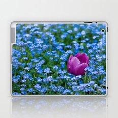 Pink Tulip in the blue Laptop & iPad Skin