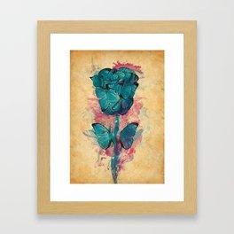 Butterfly Rose Framed Art Print