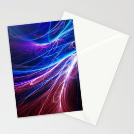 Pink and blue fractal Stationery Cards