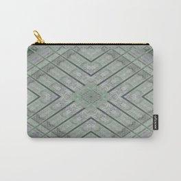 Refreshing Mint Green Tea Maze Carry-All Pouch