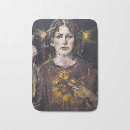 The light of my sacred heart. Jesus child Bath Mat