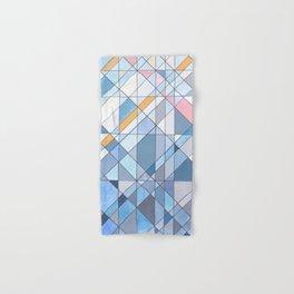 Triangle Pattern no.17 Light Blues Hand & Bath Towel