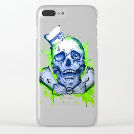 Gamble Skull Clear iPhone Case