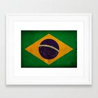 brasil Framed Art Prints featuring Brasil by NicoWriter