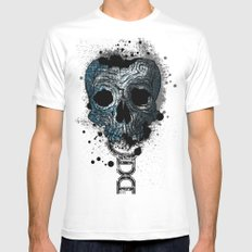 Skull Mens Fitted Tee SMALL White