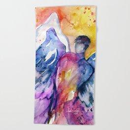 Luke Angel by Kathy Morton Stanion Beach Towel