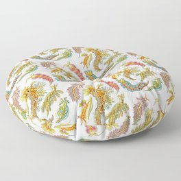 Ernst Haeckel Nudibranch Sea Slugs Floor Pillow