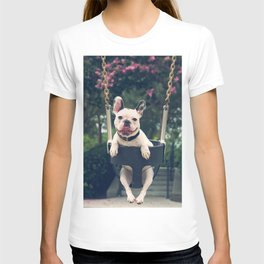 Frenchie Swings T-shirt